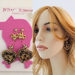 Large Love Heart Earrings
